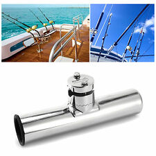 316L STAINLESS STEEL FISHING ROD HOLDER BOAT SEA TACKLE Clamp On RAIL MOUNT