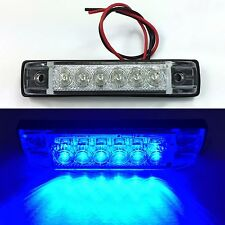 "NEW BLUE LED SLIM LINE LED UTILITY STRIP LIGHTS 6 LEDS 4""x1"" RV BOAT"