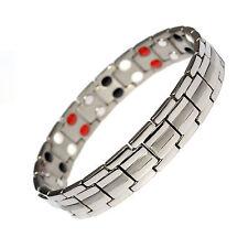 Da Uomo Titanio Super Forte terapia magnetica braccialetto Bio 4 nel 1 l'artrite 003s