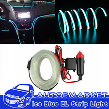 ICE Blue 1M Car LED EL Wire Interior Neon Lamp Cold Rope Strip Light Panel Gap