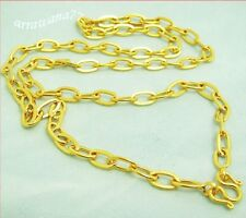 "Chain 22K 23K 24K THAI BAHT GOLD GP NECKLACE 18"" 10 Grams Jewelry N89"