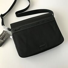 Michael Kors Mens The Parker Collection Black Nylon Large Messenger Bag Laptop