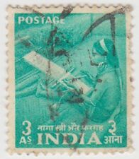 Stamp(I179) 1955 INDIA 3a green Naga women ow359