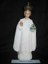 "Chalkware Statue 12"" Jesus figurine Infant of Prague vtg Catholic Religious r1"