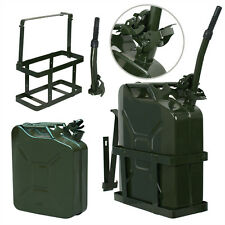 2Pack Jerry Can 5 Gallon 20L Gas Fuel Army NATO Military Metal Steel Tank Holder