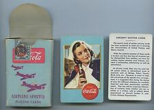 1943 PACK OF 53 COCA-COLA COKE PLAYING CARDS AIRPLANE SPOTTER WW2 PATRIOTIC A59.