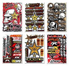 Golden Metal Mulisha Rockstar Stickers Motorcycle MX1 ATV Motorbike Kits Decals