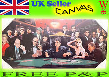 Scarface Canvas Picture Gangster Mafia Sopranos Poker Wall Art Ready To Hang