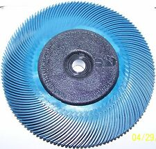"3M RADIAL BRISTLE BRUSH 6"" DIA 400 GRIT BLUE  BRUSH 8-PLY W-BUSHINGS #33214"