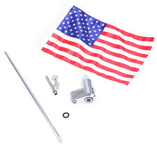 Chrome Vertical Flag Pole American Flag Mount Kit For Harley Softail Classic