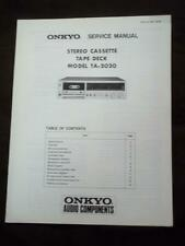 Onkyo Service Manual for the TA-2020 Cassette Tape Deck ~ Repair Manual
