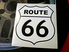 ROUTE 66 Black on White Retro Car Hot Rod Motorhome Sticker Decal 1 off 150mm