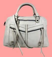 CARLOS By Carlos Santana Zoey Grey Leather Satchel Shoulder Bag Msrp $108.00
