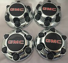 "4 Chrome GMC Sierra Yukon Savana 1500 Center Caps 16"" 17"" Wheels FOR 6 LUGS ONLY"