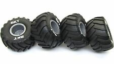 Axial SMT10 Grave Digger TIRES (Set of 4 Tyres) Max-D Silver Rims Wheels AX90055