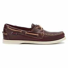 Sebago Horween Dockside Mens Boat Shoes Leather Laceup B720027 UK 9 EU 43.5