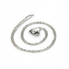 45cm silver plated Stainless Steel Fine Necklace Chain