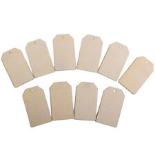 Laser Cut Wooden Rectangle MDF Craft Shapes Blanks Multiple Designs With Hole