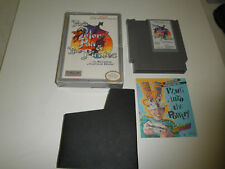 FOX'S PETER PAN AND THE PIRATES with BOX and GAME insert NINTENDO NES HQ BOX #A