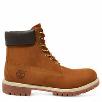 Timberland Men's 6-Inch Premium Waterproof Boot 72066 Rust Nubuck