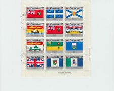 FLAGS of Canada souvenir sheet used cancelled Montreal different plate positions