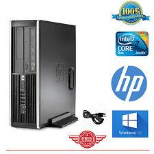 HP Computer Core 2 Duo Tower Desktop Computer PC 4GB 250GB Windows 10 FAST