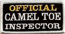Official Camel Toe Inspector MC Club Embroidered Funny Biker Vest Patch PAT-2675