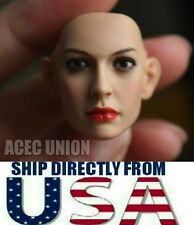1/6 Anne Hathaway Catwoman Head Sculpt For Phicen Kumik Hot Toys  U.S.A. SELLER