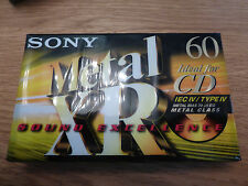 10 x Sony Metal XR 60 - Blank Audio Cassette Tape | Metal Position | Type IV / 4