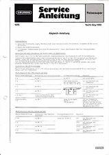 Service Manual-Anleitung für Grundig Yacht Boy 1100