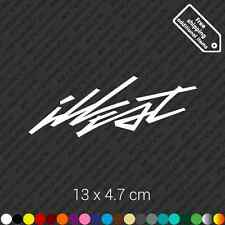 illest flight car bumper sticker decal vinyl stance illest jdm - White