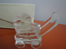 Crystal Collection Baby Carriage Figurine