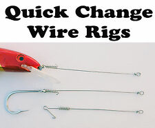 Quick Change - wire trolling / bait leaders. Pack of 20. 70lb