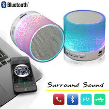 LED Portable Stereo Bluetooth Wireless Speaker Boombox For Phone Tablet Notebook