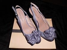 New & Boxed Paula Soler Designer High Slingback Shoes Size 6