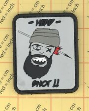 PVC Head Shot Patch Velcro Funny Morale Tactical TALIBAN ARMY BLACK OPS kill