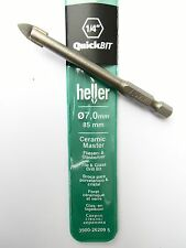 "German Quality Heller QuickBit 1/4"" drive Tile and Glass drill bit 7mm NEW"