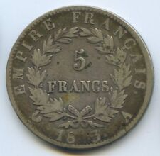 FRANCE NAPOLEON Ier 5 FRANCS 1813 A PARIS