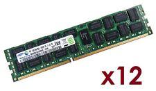 12x 8GB 96GB RDIMM ECC REG DDR3 1333 MHz Speicher f HP Proliant BL460c G6