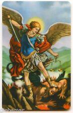 Image pieuse plastifiée avec prière au dos Saint Michel Archange