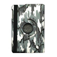 Camo Series Rotating PU Leather Magnetic Smart Case For iPad 2 3 4 Mini Air Pro