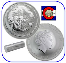 2012 Lunar Dragon 1 oz Silver, Series II,Australia, shrink wrapped roll of 20