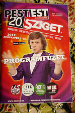 hungarian SZIGET FESTIVAL 2012 program magazin