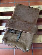 1944 Swiss Army Cowhide Leather Backpack Rucksack Military Vintage