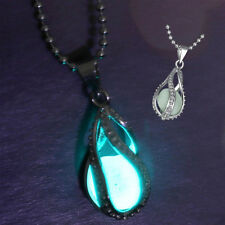New Fashion Teardrop Magic Fairy Glow In The Dark Pendant Necklace Chain Jewelry