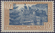 Monaco 1924-33 10f Blue & Brown Fresh Unmounted Mint Yvert 103 Cat 65.00 Euros