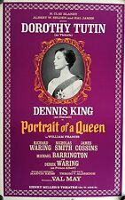 """PORTRAIT OF A QUEEN BROADWAY WINDOW CARD POSTER  22"""" X 14"""" DOROTHY TUTIN"""