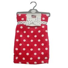 Baby Boy Girl Luxury Wrap Blanket Red & White Spots by Pitter Patter  75 x 75 cm