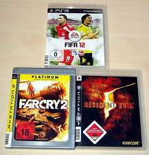 3 PLAYSTATION 3 PS3 SPIELE SAMMLUNG FIFA 12 FAR CRY 2 RESIDENT EVIL 5 SHOOTER