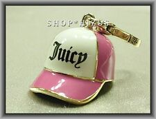 AUTHENTIC JUICY COUTURE 2013 PINK BASEBALL CAP CHARM NIB